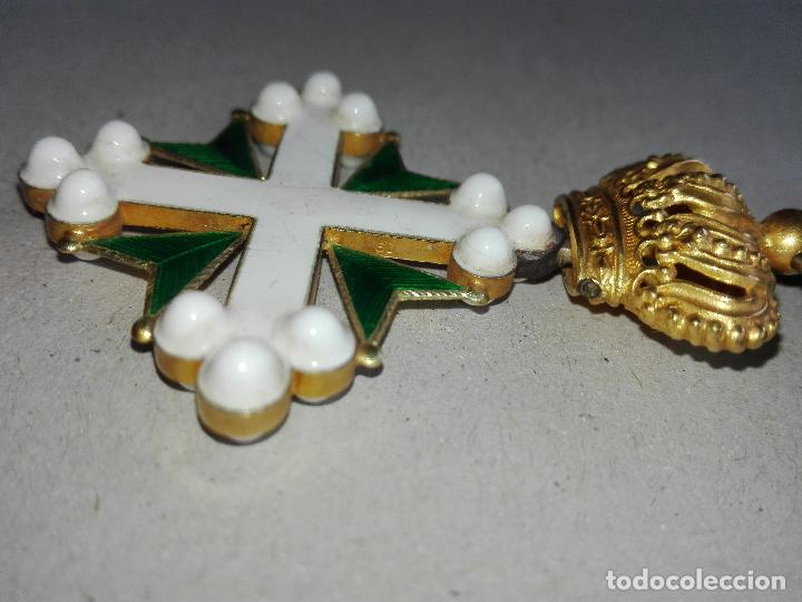Militaria: Medalla Orden de San Lázaro. Monarquía Italia. Oro. - Foto 4 - 115489823