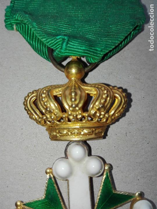 Militaria: Medalla Orden de San Lázaro. Monarquía Italia. Oro. - Foto 5 - 115489823