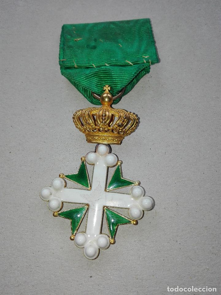 Militaria: Medalla Orden de San Lázaro. Monarquía Italia. Oro. - Foto 6 - 115489823