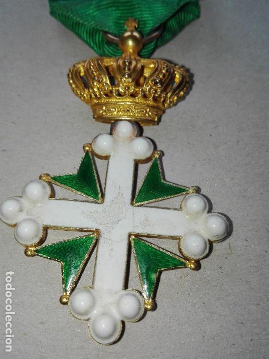 Militaria: Medalla Orden de San Lázaro. Monarquía Italia. Oro. - Foto 7 - 115489823