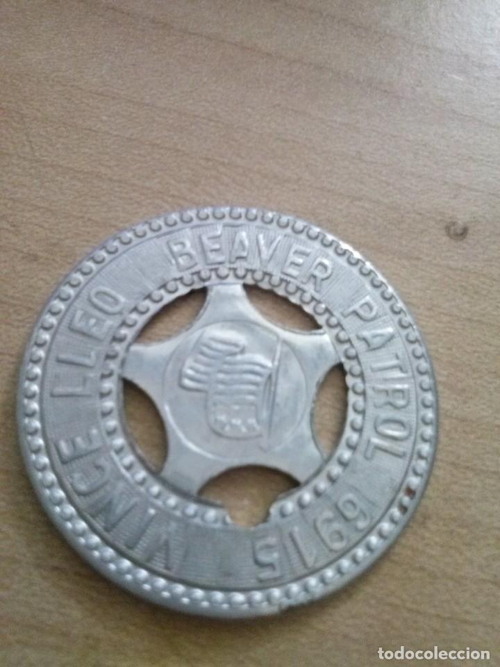 FICHA DE LOS BOYS SCOUT DE LA PATRULLA CASTOR EN ALUMINIO (Militar - Medallas Internacionales Originales)