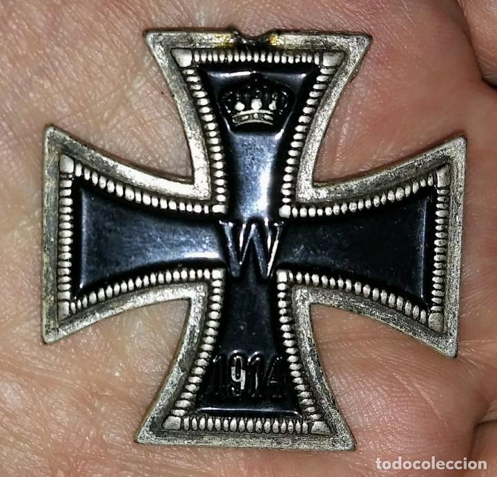 CRUZ DE HIERRO 1813 - 1914 - MEDALLA MILITAR - FACSÍMIL 4,4CM X 4,4CM (Militar - Reproducciones y Réplicas de Medallas )