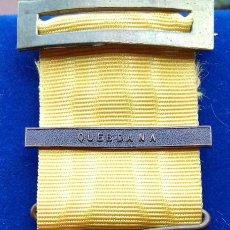 Militaria: MEDALLA CAMPAÑA DEL RIF 1910 - CATEGORIA BRONCE PASADOR QUEBDANA . Lote 116199423
