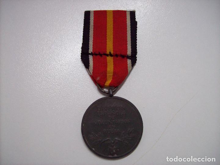 Militaria: MEDALLA DIVISION ESPAÑOLA DE VOLUNTARIOS EN RUSIA MARCAJE 1 - Foto 2 - 116357031