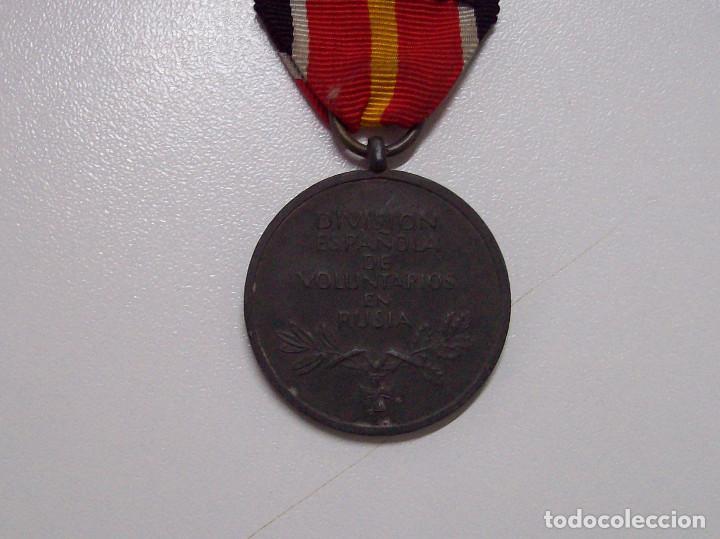 Militaria: MEDALLA DIVISION ESPAÑOLA DE VOLUNTARIOS EN RUSIA MARCAJE 1 - Foto 4 - 116357031