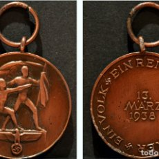 Militaria: MEDALLA ALEMANIA 1938 ANEXION DE LOS SUDETES 13 DE MARZO. Lote 101524335
