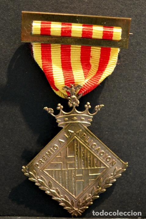 ANTIGUA MEDALLA DE HONOR AL MERITO 1910 GUARDIA URBANA DE BARCELONA POLICIA CATALUÑA RARA (Militar - Medallas Españolas Originales )