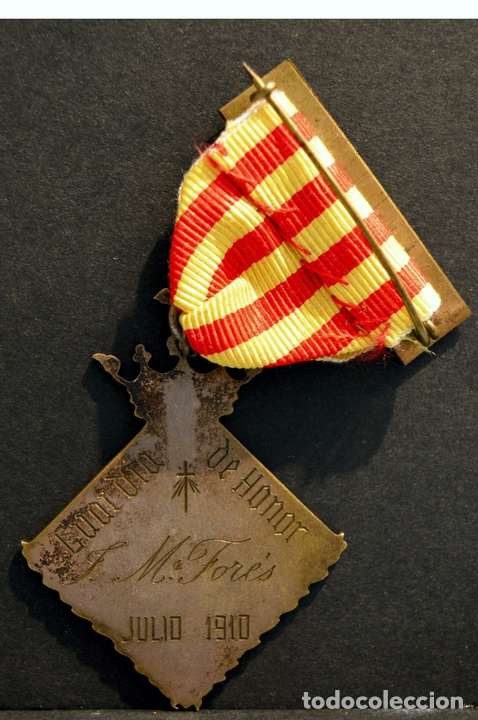 Militaria: ANTIGUA MEDALLA DE HONOR AL MERITO 1910 GUARDIA URBANA DE BARCELONA POLICIA CATALUÑA RARA - Foto 3 - 54202510