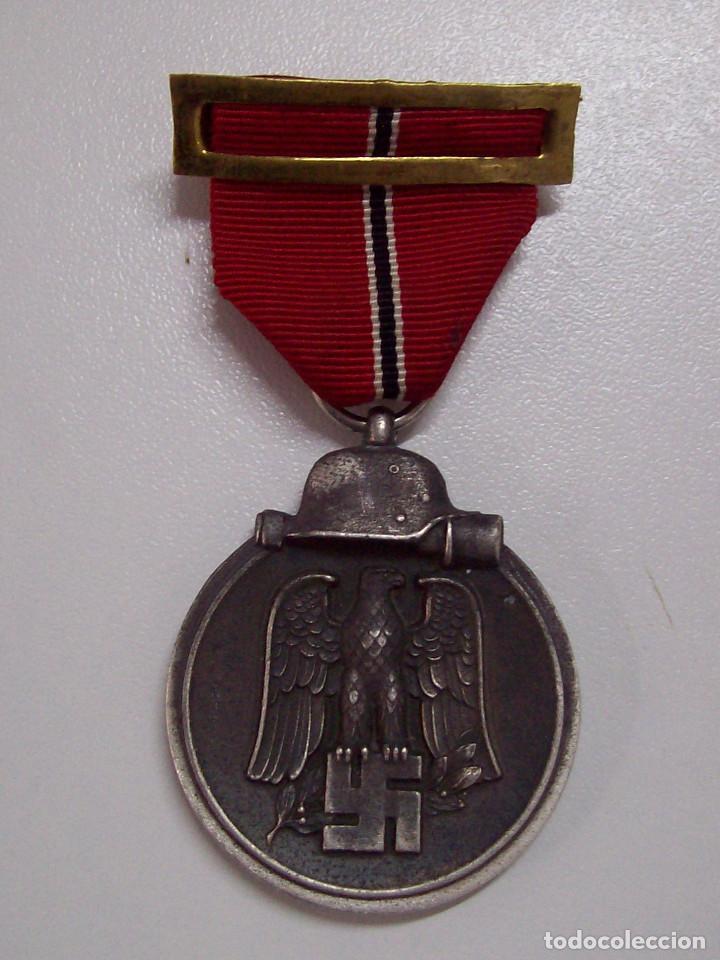 MEDALLA DEL PRIMER INVIERNO EN RUSIA. 1941-1942. WINTERSCHLACHT IMOSTEN. MARCAJE 13 (Militar - Medallas Españolas Originales )