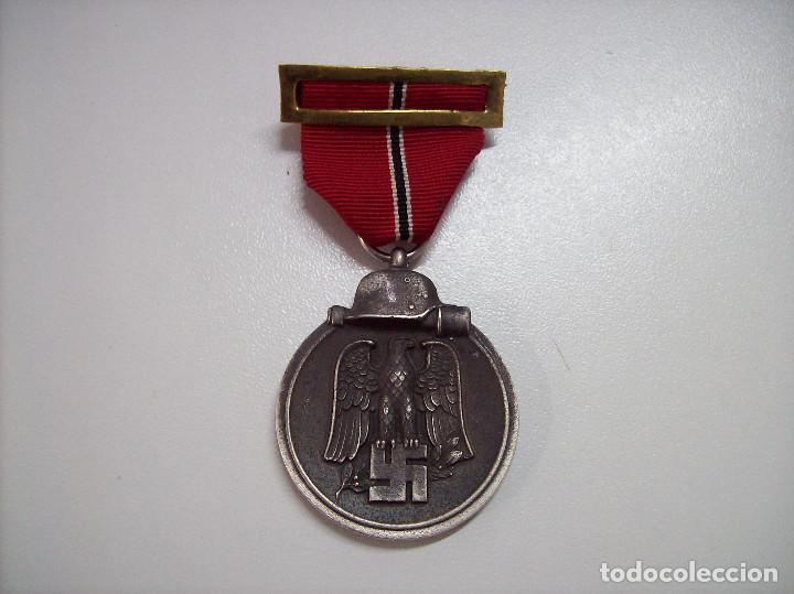 Militaria: Medalla del Primer Invierno en Rusia. 1941-1942. Winterschlacht imosten. Marcaje 13 - Foto 2 - 116698135