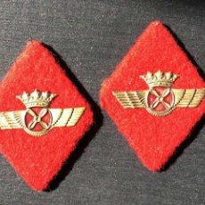 Militaria: PAREJA DE ROMBOS AVIACIÓN TELA. Lote 116747591