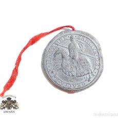 Militaria: MEDALLA - SELLO DE PLOMO - SANCIVS DEI GRACIA REX NAVARRE. Lote 116801335