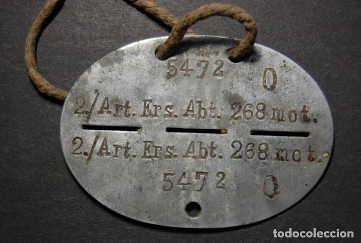 Militaria: CHAPA DE IDENTIFICACION Y CUERDA ORIGINAL DE MIEMBRO DE LA ARTILLERIA MOTORIZADA.2ª GUERRA MUNDIAL - Foto 5 - 116821071