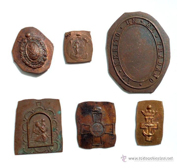 LOTE DE PIEZAS TROQUELADAS (Militar - Medallas Españolas Originales )