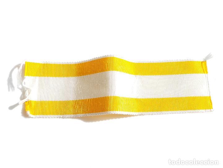 11 CM DE CINTA DE LA ORDEN DE ISABEL LA CATÓLICA - 3 CM ANCHA (Militar - Cintas de Medallas y Pasadores)