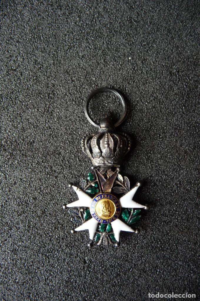 Militaria: (JX-180416)Medalla Legión de Honor Francesa,época Primera Restauración 1814-30,categoría Caballero - Foto 3 - 117410971
