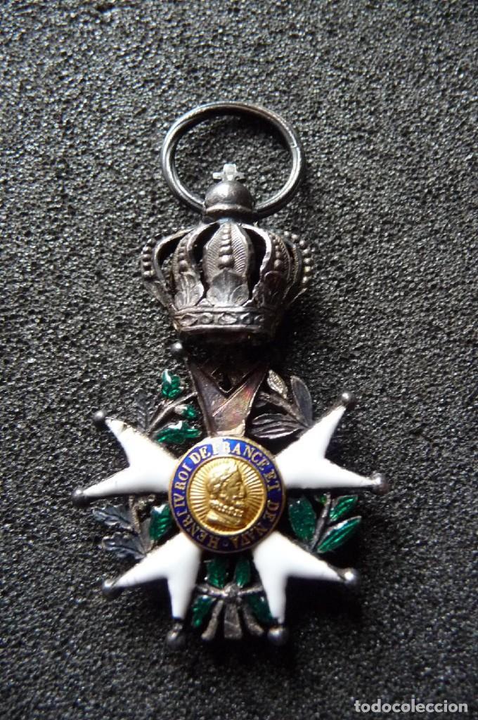 Militaria: (JX-180416)Medalla Legión de Honor Francesa,época Primera Restauración 1814-30,categoría Caballero - Foto 4 - 117410971