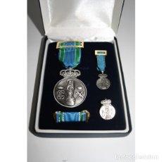 Militaria: ESTUPENDO ESTUCHE DE LUJO DE LA MEDALLA DE LA VIRGEN DEL PILAR (10 MICRAS) PIN+PASADOR+MEDALLA MINI. Lote 99029822