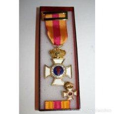 Militaria: ESTUCHE ECONÓMICO MEDALLA CONSTANCIA EN EL SERVICIO CATEGORIA ORO, MAS PASADOR MAS PIN. Lote 181439721