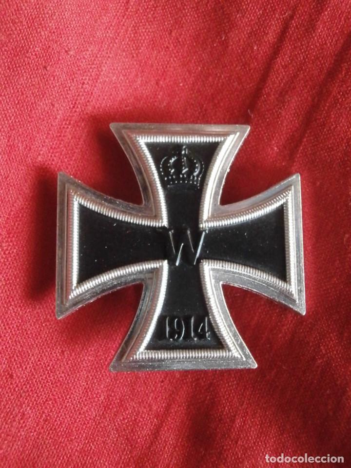 MEDALLA CONDECORACIÓN ALEMANA I PRIMERA GUERRA MUNDIAL 1914 1918 CRUZ DE HIERRO I CLASE COPIA REPRO (Militar - Reproducciones y Réplicas de Medallas )