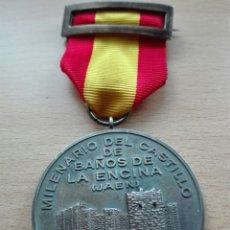Militaria: MEDALLA CONMEMORATIVA BAÑOS DE LA ENCINA. MINISTRO LEÓN HERRERA.. Lote 120280908