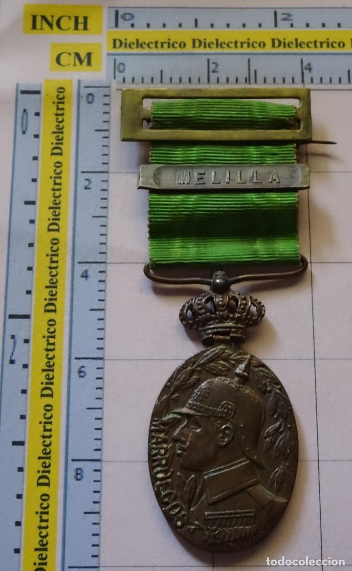MEDALLA MILITAR. GUERRA DE MARRUECOS. ALFONSO XIII. PASADOR DE MELILLA (Militar - Medallas Españolas Originales )