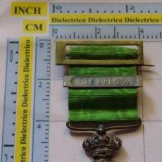 Militaria: MEDALLA MILITAR. GUERRA DE MARRUECOS. ALFONSO XIII. PASADOR DE MELILLA. Lote 129693655