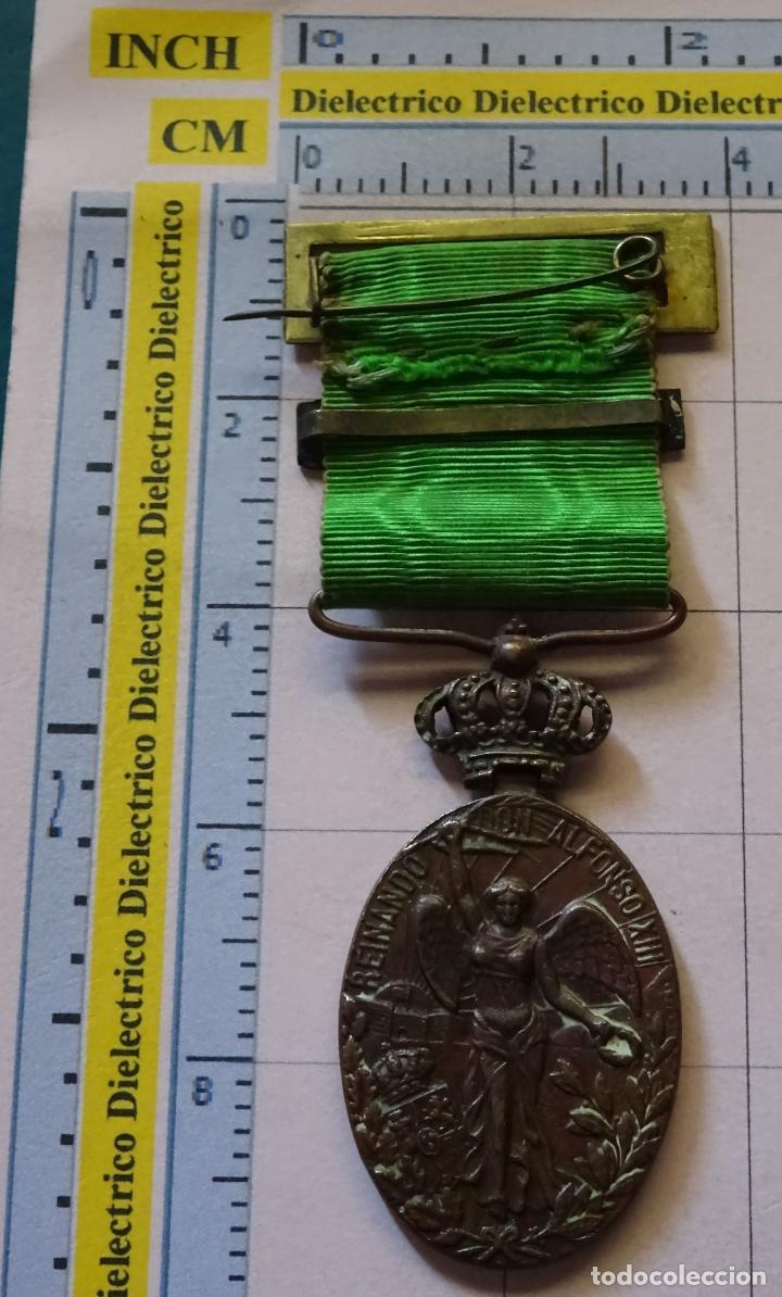 Militaria: MEDALLA MILITAR. GUERRA DE MARRUECOS. ALFONSO XIII. PASADOR DE MELILLA - Foto 2 - 129693655