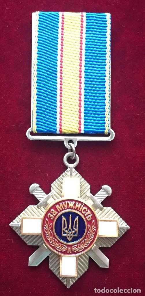 ORDEN POR VALENTIA 3 CLASSE UCRANIA # 259962 (Militar - Medallas Internacionales Originales)