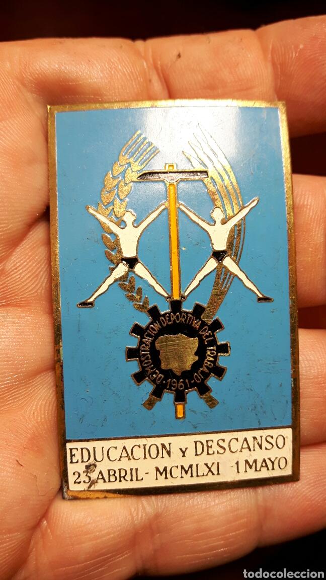 MEDALLA EDUCACIÓN Y DESCANSO 1961 (Militar - Medallas Españolas Originales )