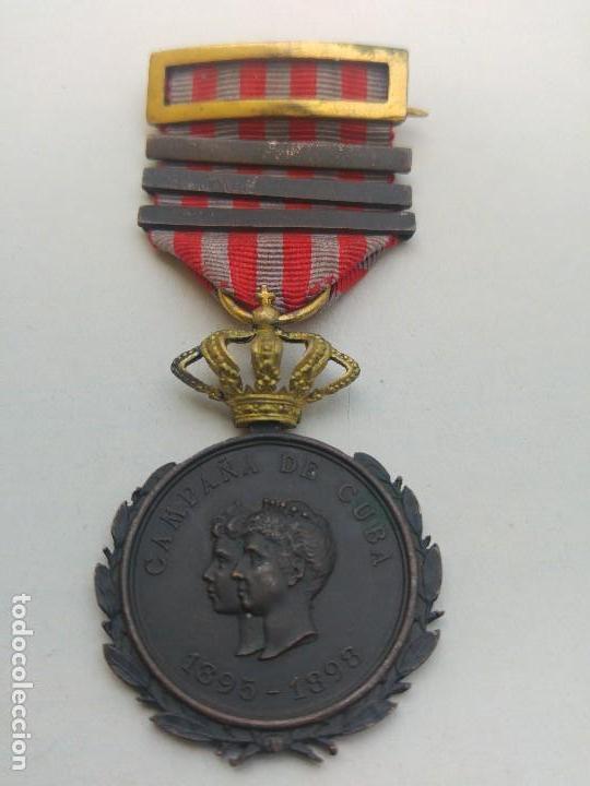 MEDALLA CAMPAÑA DE CUBA. EJERCITO OPERACIONES (Militar - Medallas Españolas Originales )