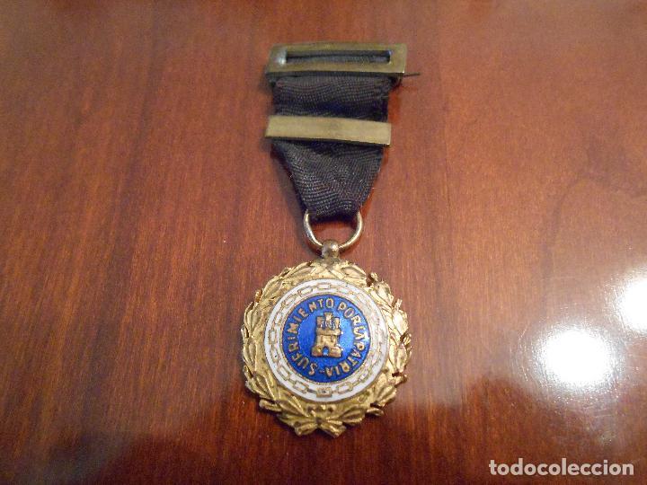 MEDALLA SUFRIMIENTOS POR LA PATRIA CINTA NEGRA, CAÍDOS (MINIATURA) (Militar - Medallas Españolas Originales )