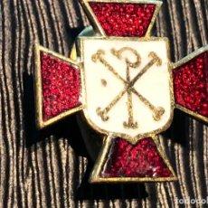 Militaria: INSIGNIA ACCION CATOLICA ESPAÑOLA CRUZ CRISTO AÑOS 40 50 15X15MM. Lote 121728399