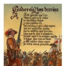 Militaria: CALDERÓN Y LOS TERCIOS COLECCIÓN DE CUATRO LAMINAS DISTINTAS. Lote 121972319