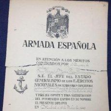 Militaria: CAPITAN CORBETA JOAQUIN MARIA PERY CRUZ MERITO NAVAL SEGUNDA CLASE DISTINTIVO BLANCO PENSIONADA 1945. Lote 122220111