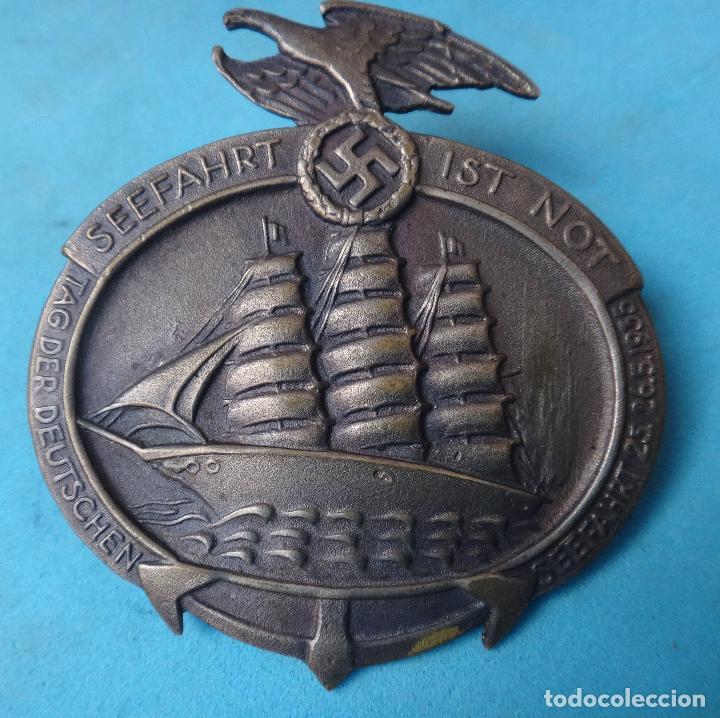 GRAN INSIGNIA MEDALLA NAZI , GERMANY ALEMANIA 1935, SEEFAHRT IST NOT , BARCO , POSIBLE REPLICA , M4 (Militar - Reproducciones y Réplicas de Medallas )