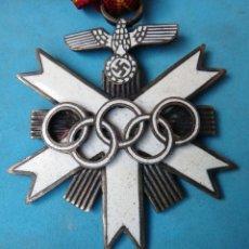 Militaria: MEDALLA NAZI , OLIMPIADA GERMANY ALEMANIA JUEGOS OLIMPICOS BERLIN , ESMALTE , ORIGINAL , M4. Lote 122263783