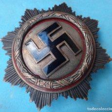 Militaria: MEDALLA NAZI , PLACA DE PECHO, CRUZ GAMADA , ALEMANIA GERMANY 1941 , ESMALTE , ORIGINAL , M4. Lote 122264175