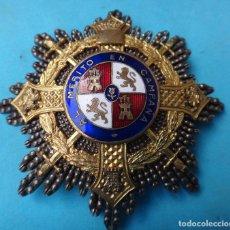 Militaria: MEDALLA MILITAR, GRAN PLACA MERITO EN CMAPAÑA , CLASE PLATA Y ORO , ESMALTE ORIGINAL , M4. Lote 122274663