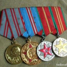 Militaria: BELLO PASADOR DE VETERANO DE MEDALLAS SOVIETICAS. URSS. CCCP. UNION SOVIETICA. EJERCITO ROJO.. Lote 122396827