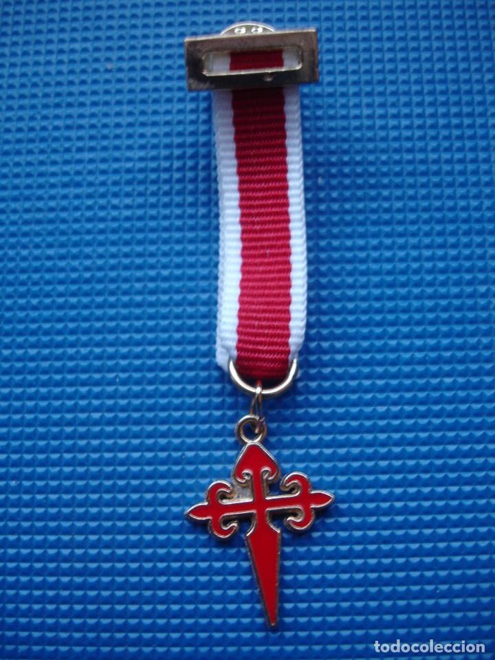 MEDALLA MINIATURA ORDEN DE SANTIAGO (Militar - Reproducciones y Réplicas de Medallas )