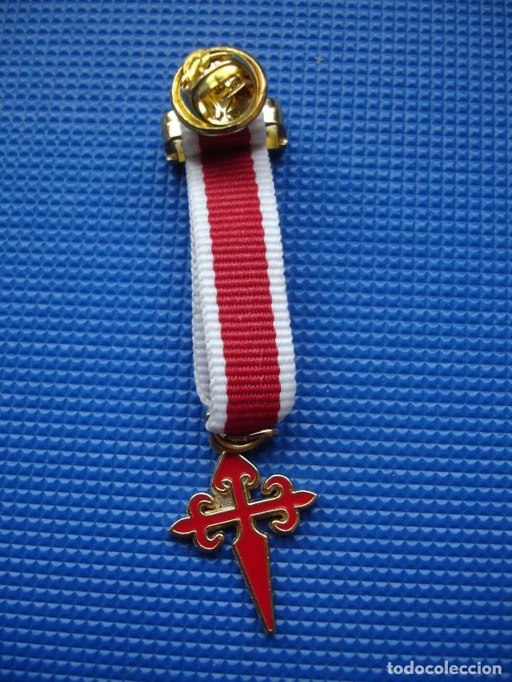 Militaria: MEDALLA MINIATURA ORDEN DE SANTIAGO - Foto 2 - 122925627
