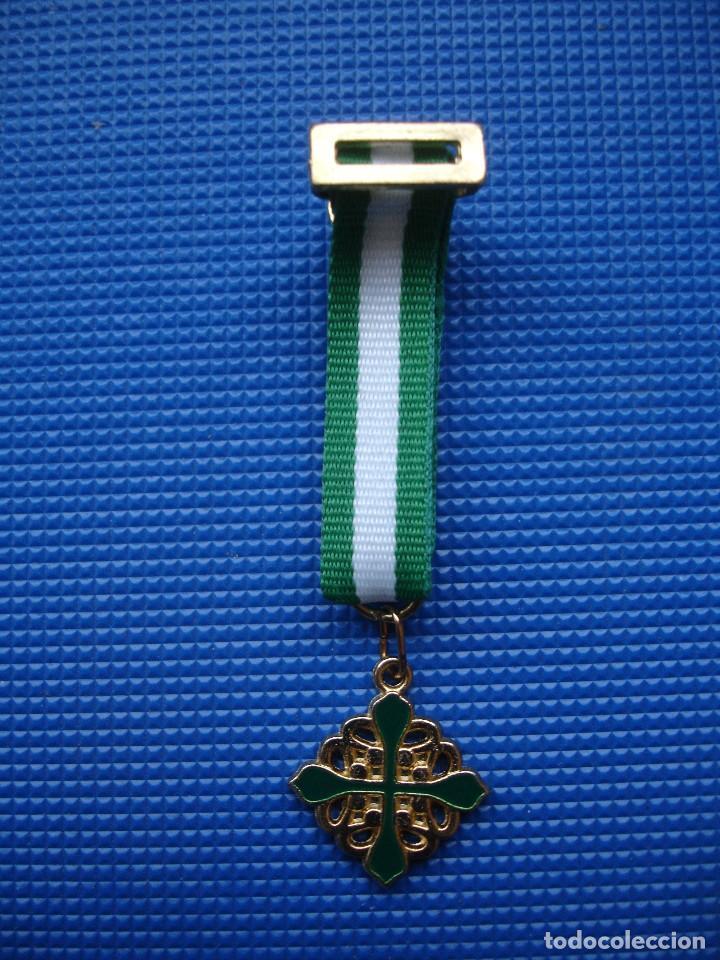 MEDALLA MINIATURA ORDEN DE ALCANTARA (Militar - Reproducciones y Réplicas de Medallas )