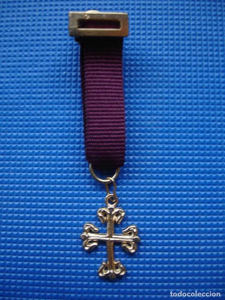 MEDALLA MINIATURA ORDEN DE CALATRAVA (Militar - Reproducciones y Réplicas de Medallas )