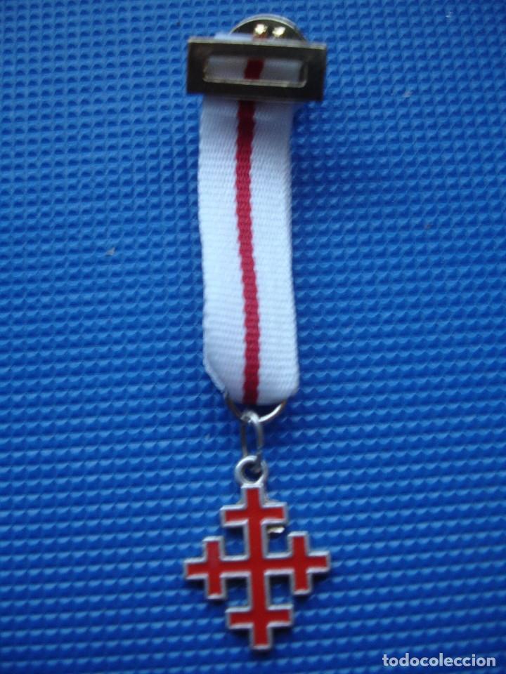 MEDALLA MINIATURA ORDEN DEL SANTO SEPULCRO (Militar - Reproducciones y Réplicas de Medallas )