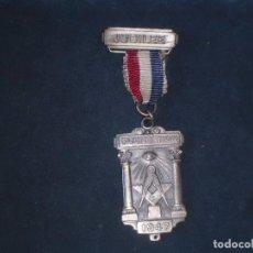 Militaria: CONDECORACION MASONICA DEL JUBILEO, FOUNDATION 1.947. Lote 122929087