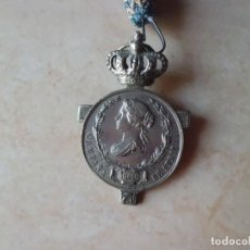 Militaria: MEDALLON GUERRA MARRUECOS AÑO 1.860 ISABEL II. Lote 122929239