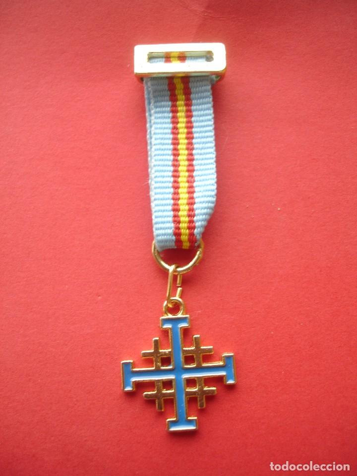 ORDEN DEL SANTO SEPULCRO MEDALLA MINIATURA (Militar - Reproducciones y Réplicas de Medallas )