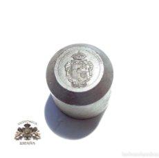 Militaria: TROQUEL MATRIZ .- ESCUDO DE ESPAÑA - ISABEL II - ALFONSO XII. Lote 125229087
