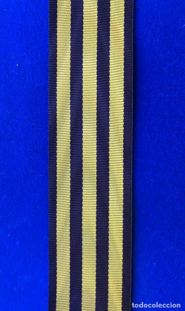 CINTA MEDALLA VOLUNTARIOS DE CUBA AMADEO I (Militar - Cintas de Medallas y Pasadores)